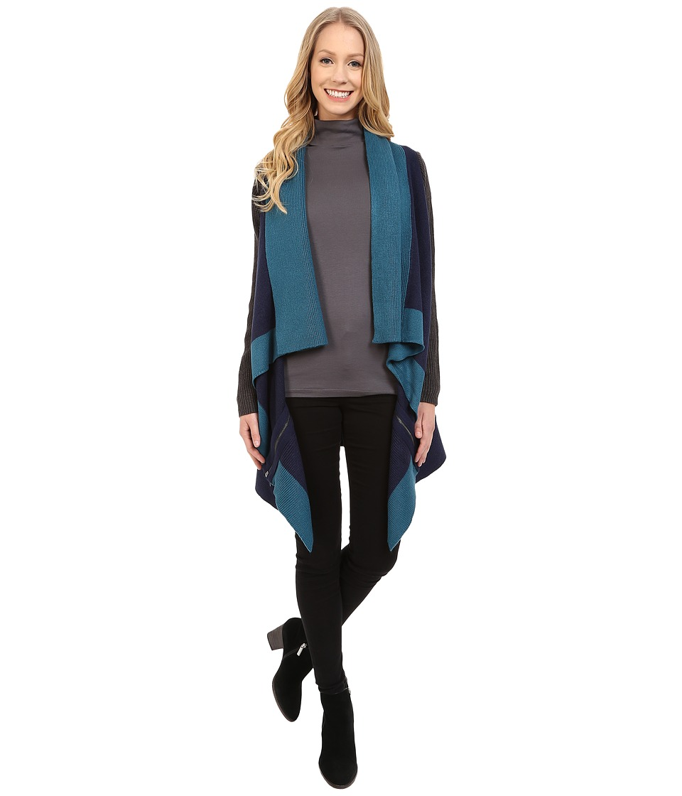 Calvin Klein Jeans - Color Blocked Poncho (Night Sky) Women's Clothing