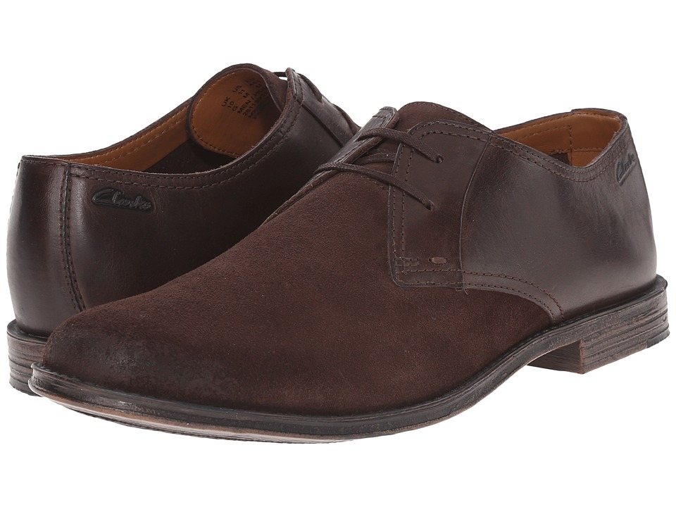 Clarks - Hawkley Walk (Dark Brown Combination) Men's Lace Up Wing Tip Shoes