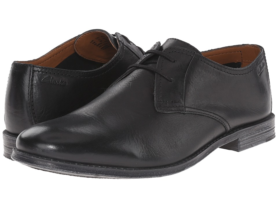 Clarks Hawkley Walk (Black Leather) Men