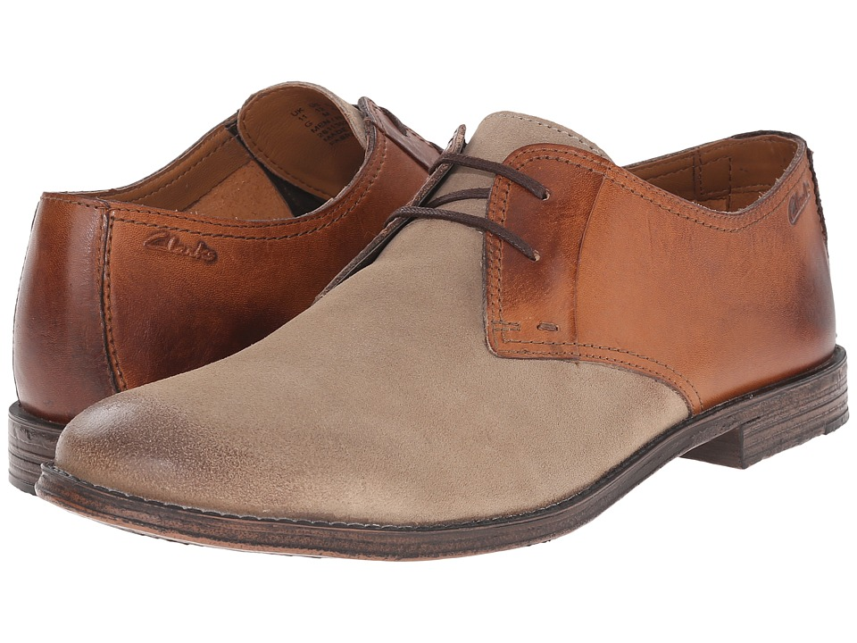 Clarks - Hawkley Walk (Wolf Combination) Men's Lace Up Wing Tip Shoes