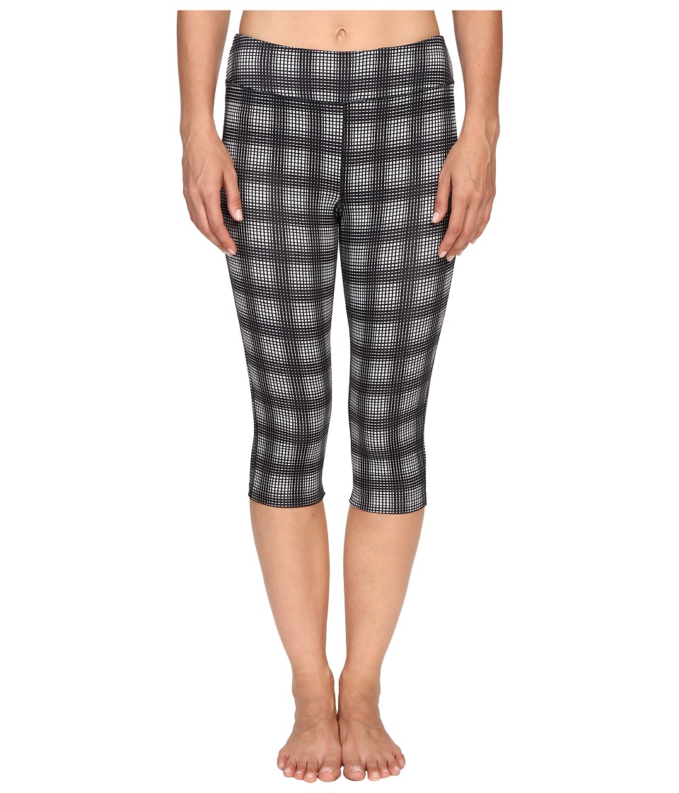 Fila - Pretty Printed Capris (White Plaid Print) Women's Capri