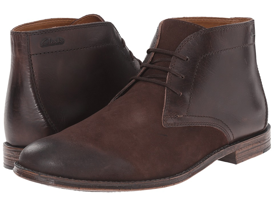 Clarks Hawkley Rise (Dark Brown Combination) Men