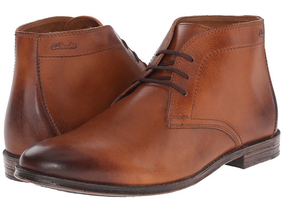 Clarks Hawkley Rise (Tan Leather) Men