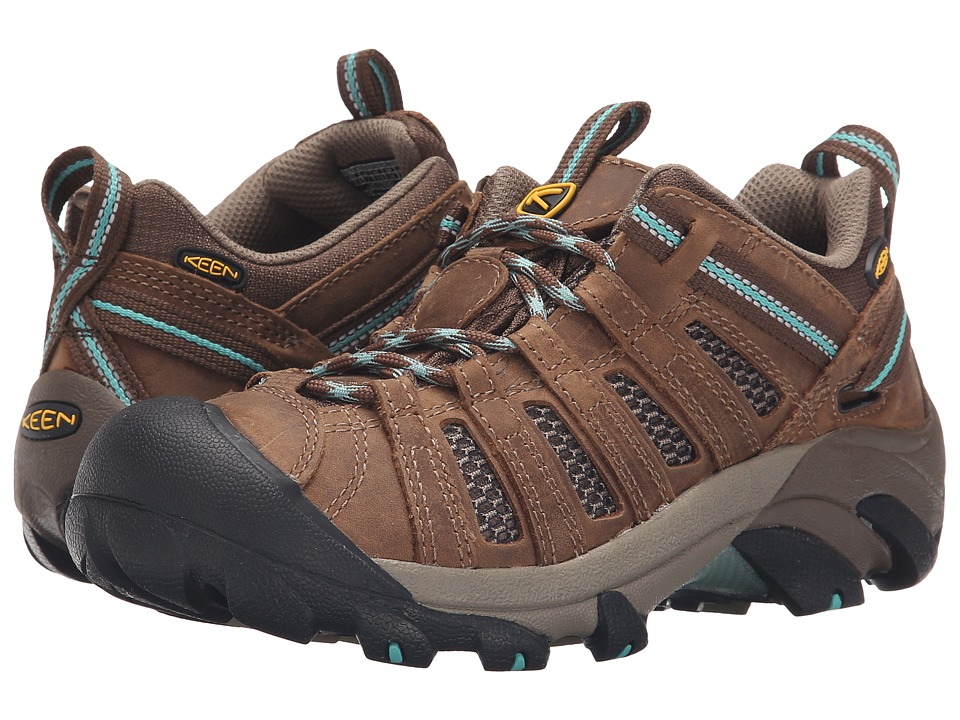 Keen - Voyageur (Dark Earth/Lagoon) Women's Shoes
