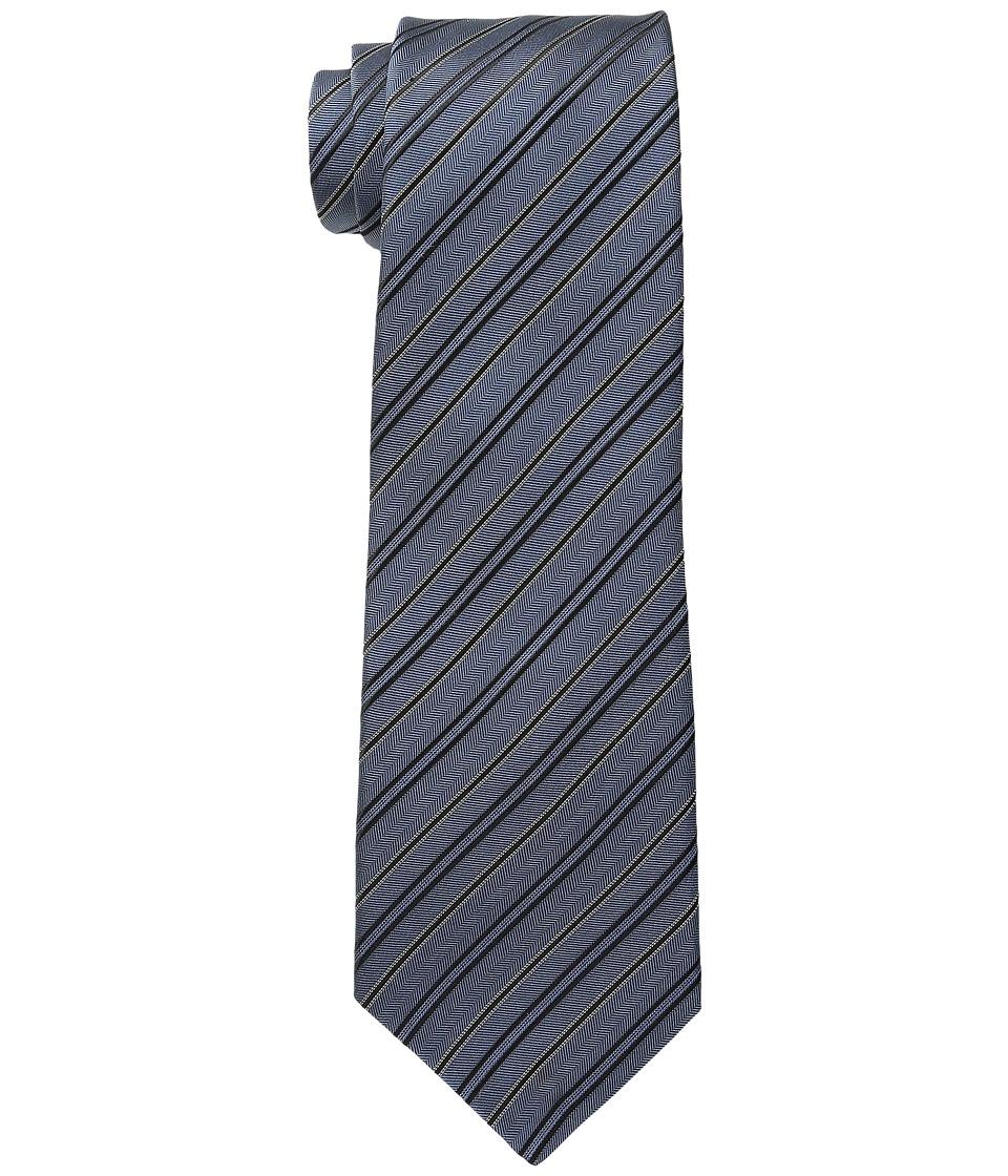 John Varvatos Star U.S.A. - Andes Stripe Tie (Slate Blue) Ties