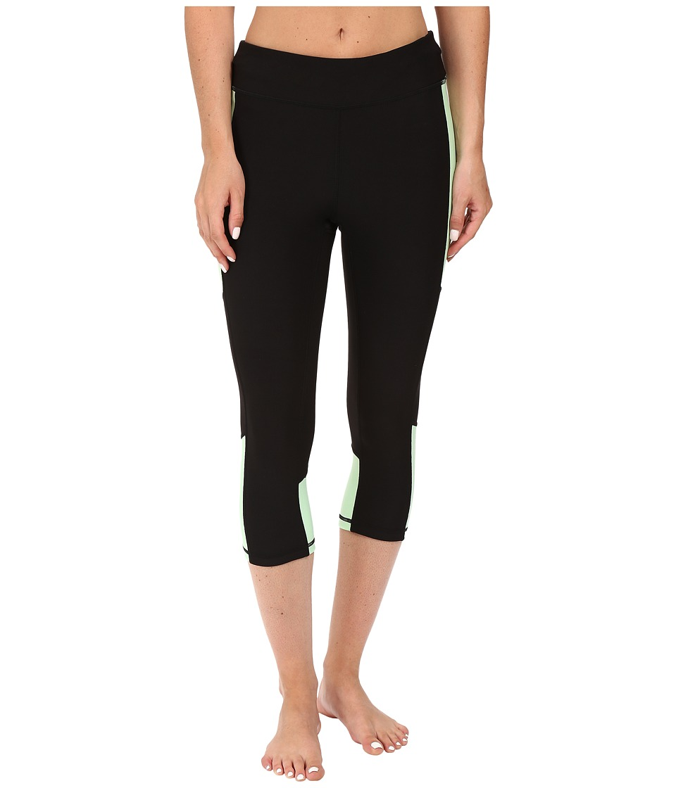 Fila - Sunset Tight Capris (Black/Apple Chew) Women's Capri