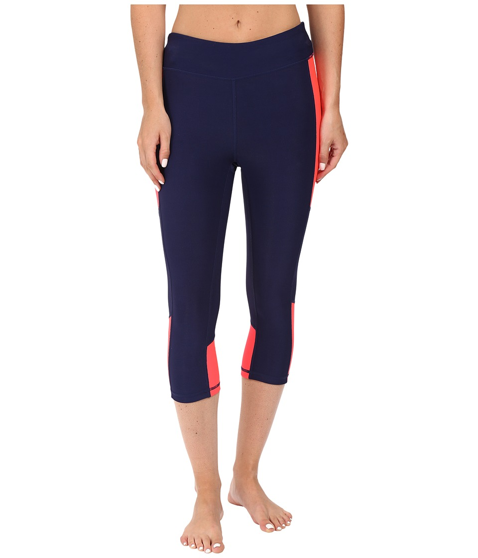 Fila - Sunset Tight Capris (Navy Power/Coral Cake) Women's Capri