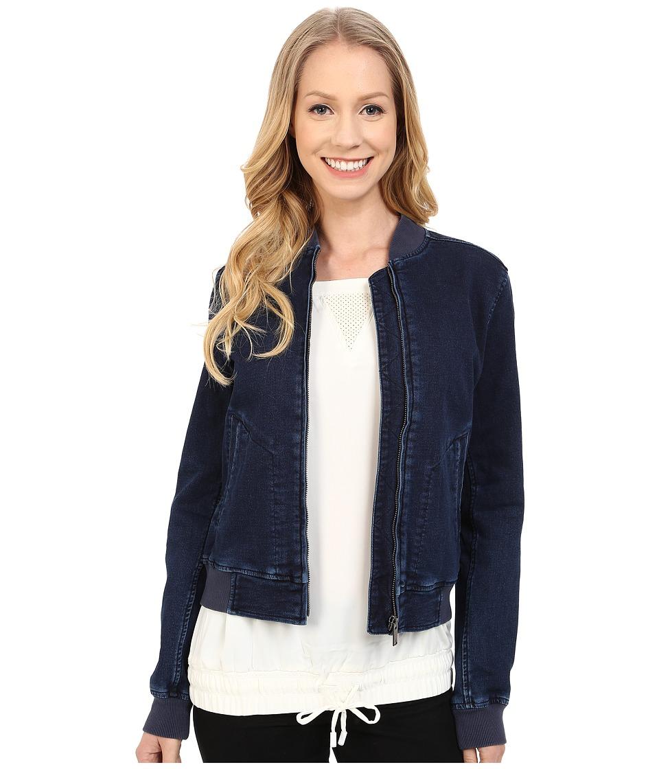 Calvin Klein Jeans - Knit Indigo Bomber Jacket (Jitney Blue) Women's Coat