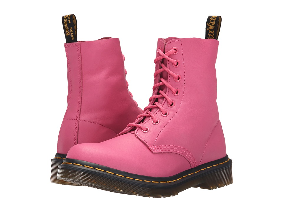 Dr. Martens - Pascal 8-Eye Boot (Hot Pink Virginia) Women's Lace-up Boots