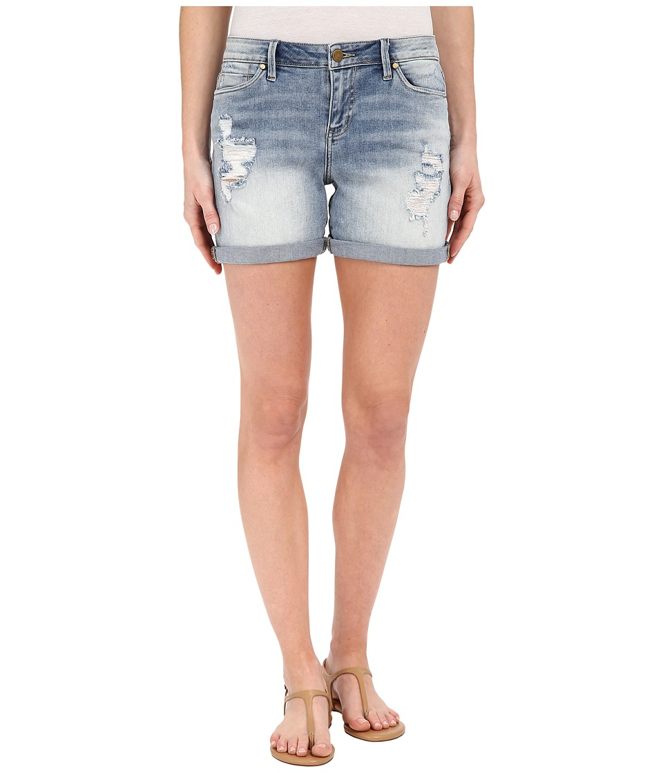 Calvin Klein Jeans - Destroyed Weekend Shorts (Perfect Pale) Women's Shorts