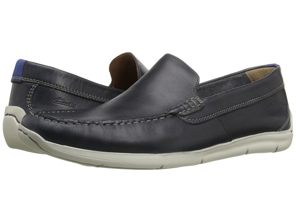 Clarks - Karlock Lane (Navy Leather) Men