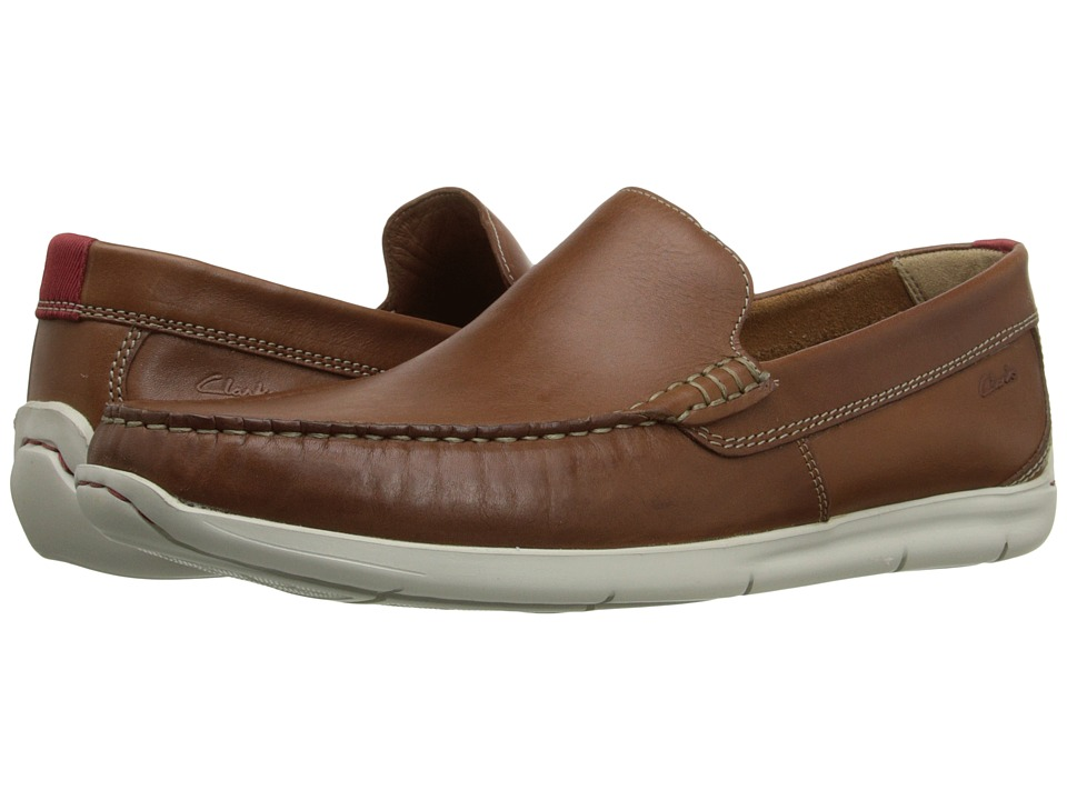 Clarks - Karlock Lane (Tan Leather) Men's Slip on Shoes