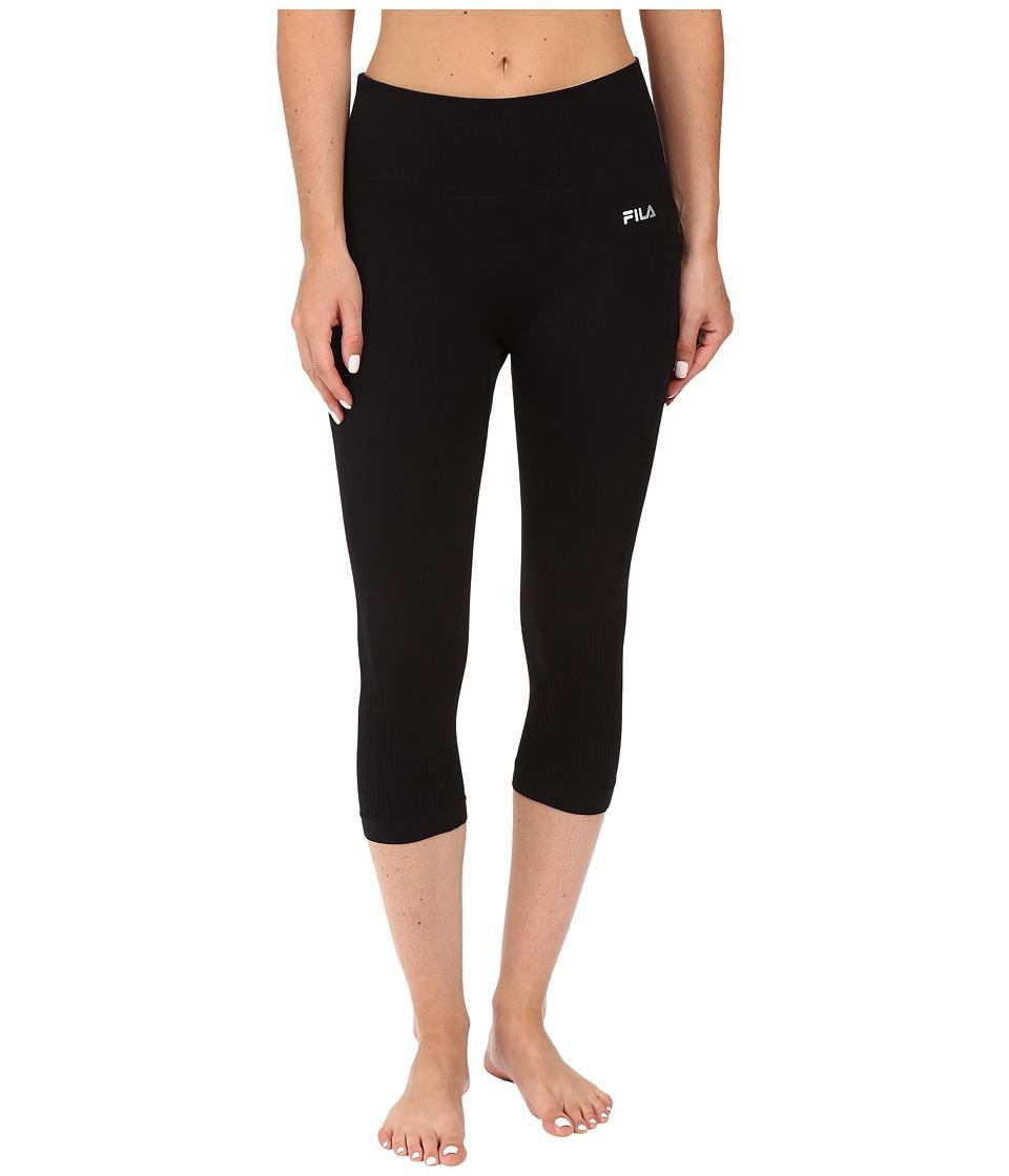 Fila - Leg High Seamless Tights (Black) Women's Workout