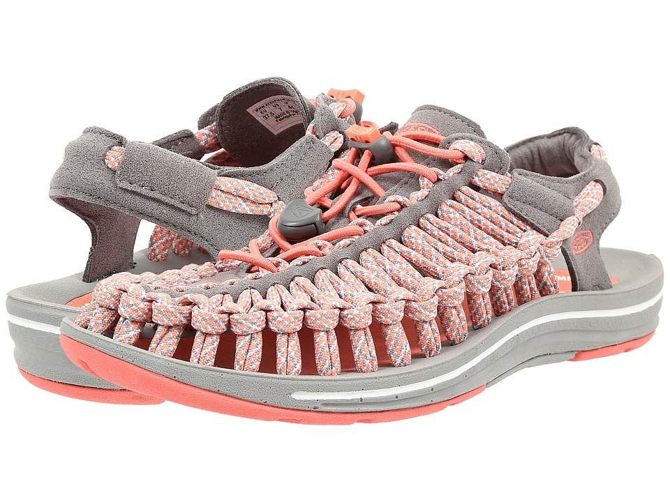 Keen - Uneek Flat (Fusion Coral/Camo) Women's Shoes