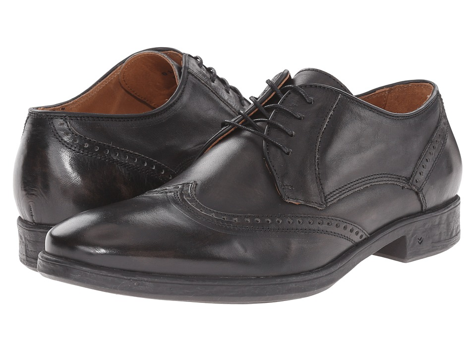 John Varvatos - Dylan Wingtip (Charcoal) Men's Lace Up Wing Tip Shoes