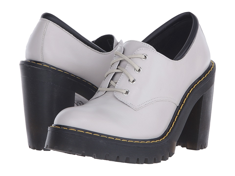 Dr. Martens - Salome Hi Tie Boot (Soft Grey Danio) Women