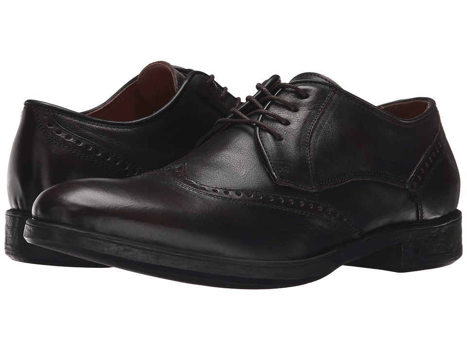 John Varvatos - Dylan Wingtip (Distressed Brown) Men's Lace Up Wing Tip Shoes