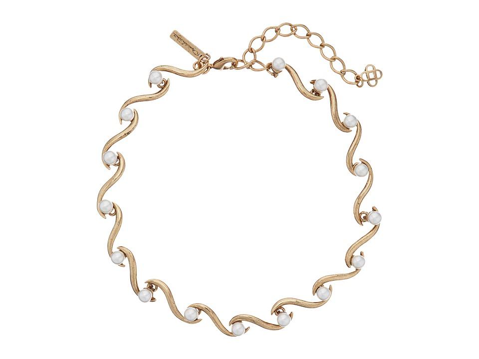 Oscar de la Renta - Sea Swirl Pearl Necklace (Light Gold) Necklace