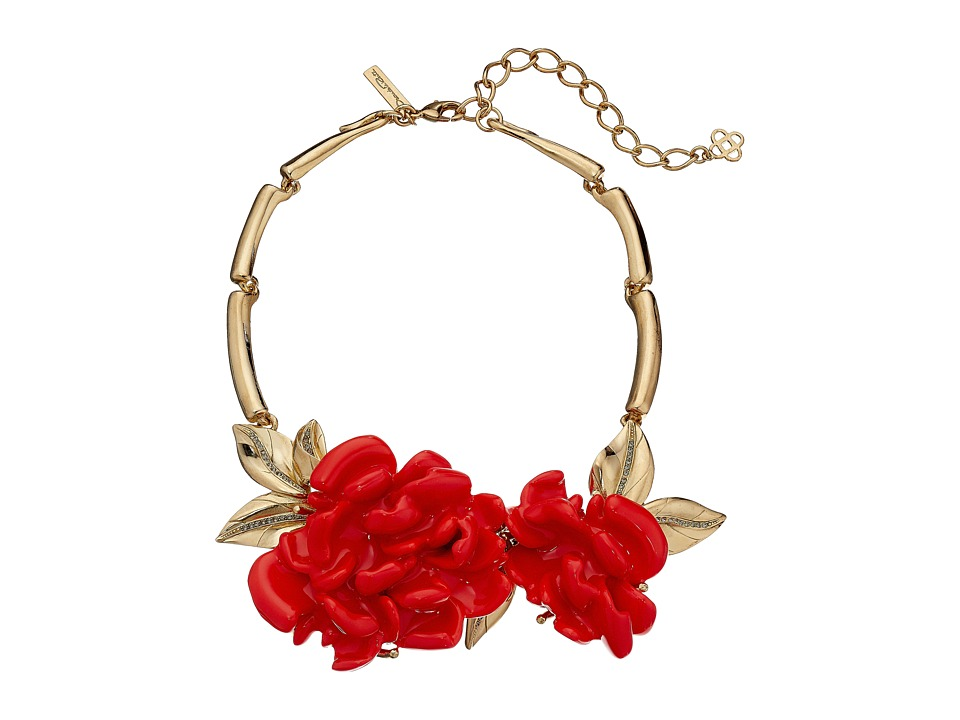 Oscar de la Renta - Resin Flower Necklace (Persimmon) Necklace