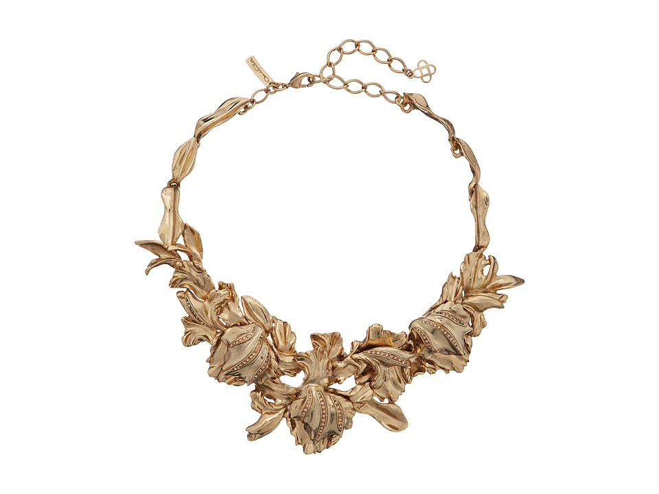 Oscar de la Renta - Tulip Pave Necklace (Light Gold) Necklace
