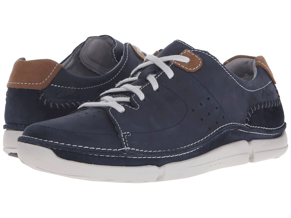 Clarks - Trikeyon Mix (Blue Leather) Men's Lace up casual Shoes