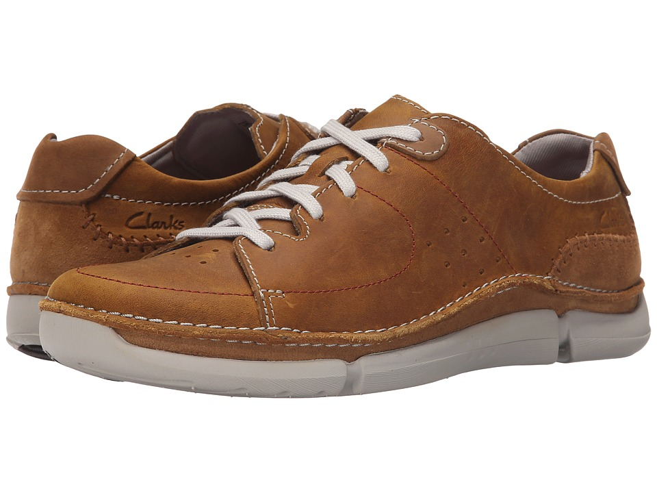 Clarks - Trikeyon Mix (Tan Leather) Men's Lace up casual Shoes