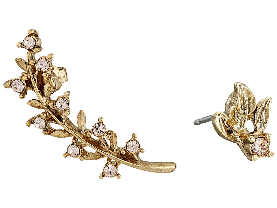Oscar de la Renta - Crystal Leaf P Ear Cuff (Sand) Earring