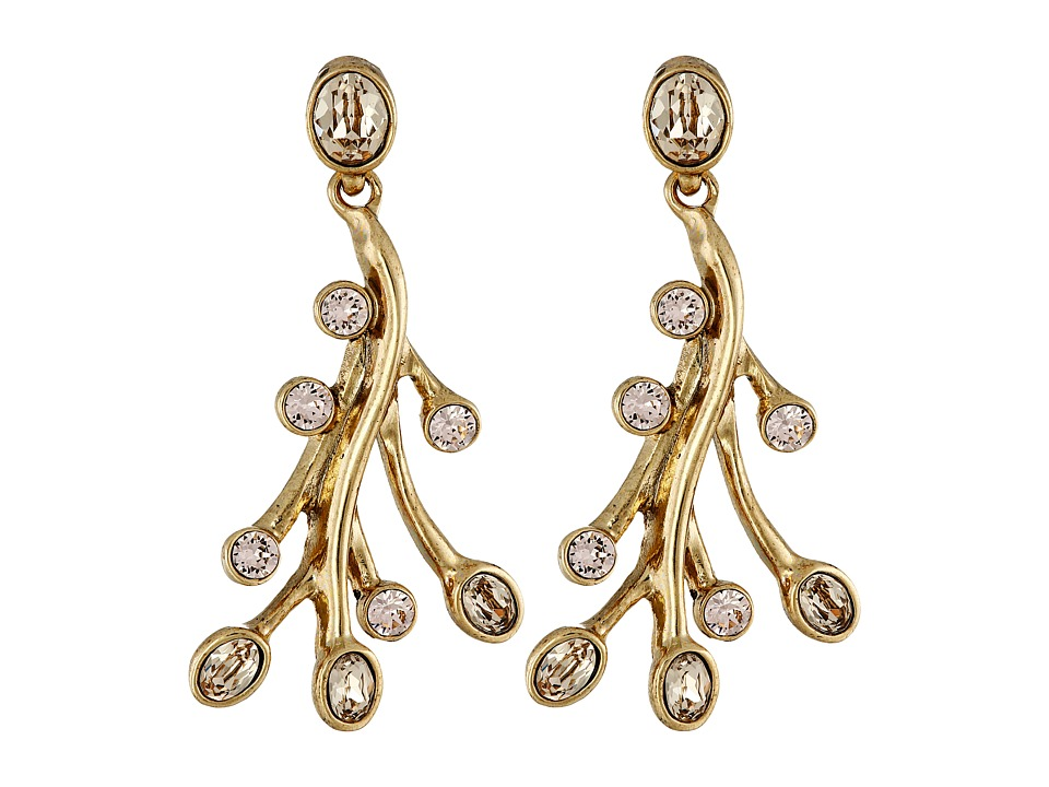 Oscar de la Renta - Seaweed P Earrings (Sand) Earring