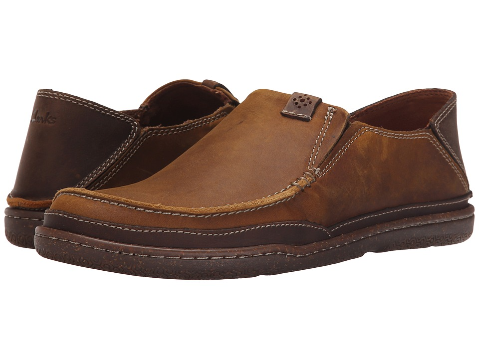 Clarks - Trapell Form (Tan Leather) Men's Slip on Shoes