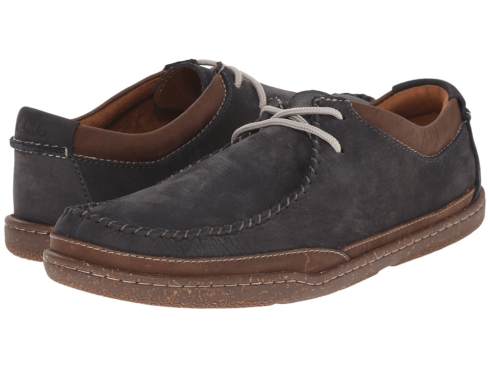 Clarks - Trapell Pace (Navy Nubuck) Men's Lace up casual Shoes