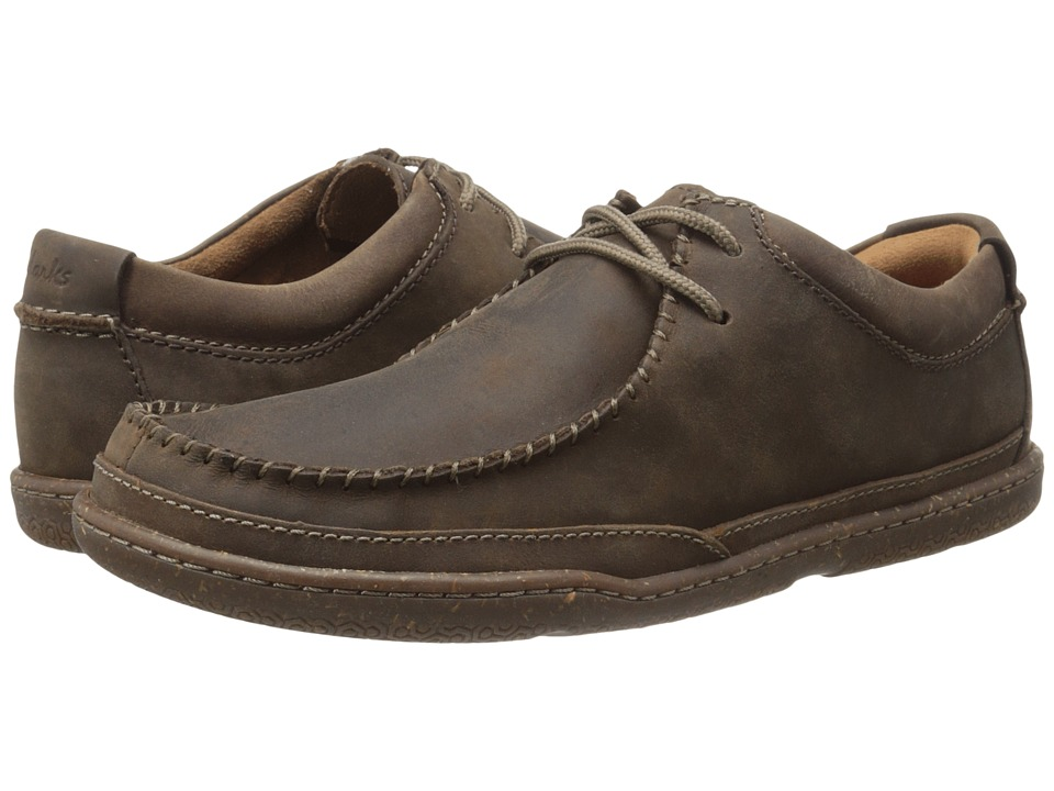 Clarks - Trapell Pace (Dark Brown Leather) Men's Lace up casual Shoes