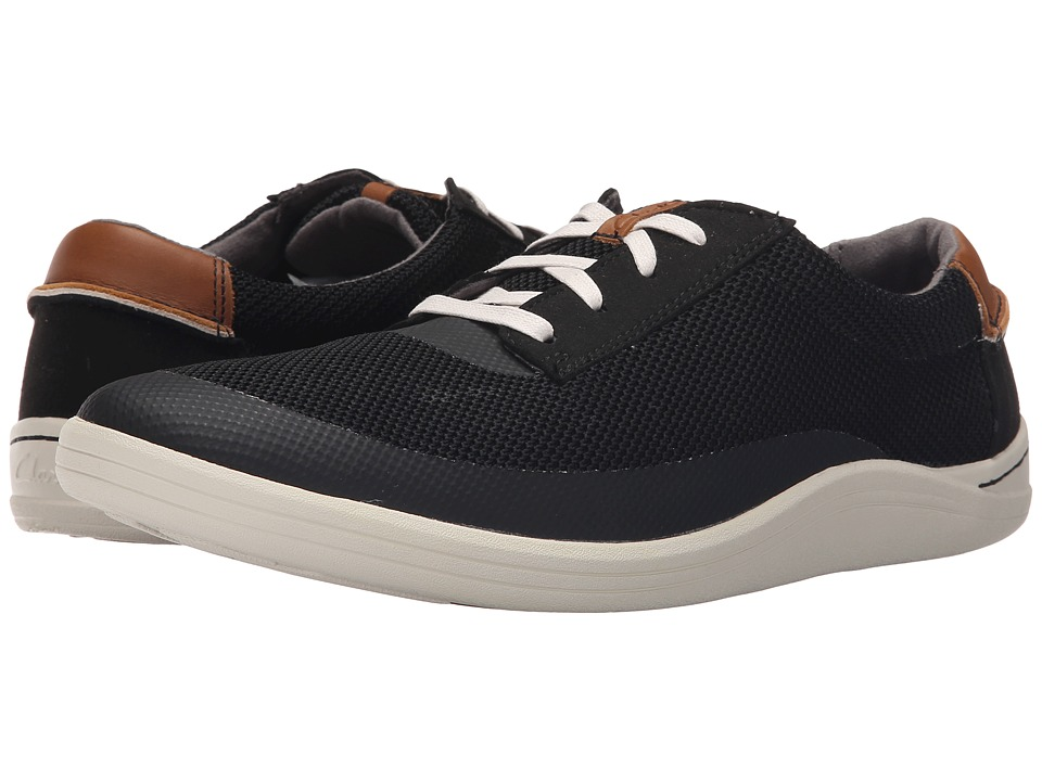 Clarks - Mapped Edge (Black Combination) Men's Lace up casual Shoes