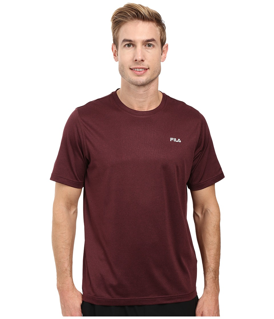 Fila - Performance Heather Short Sleeve Tee (Winetasting) Men's T Shirt