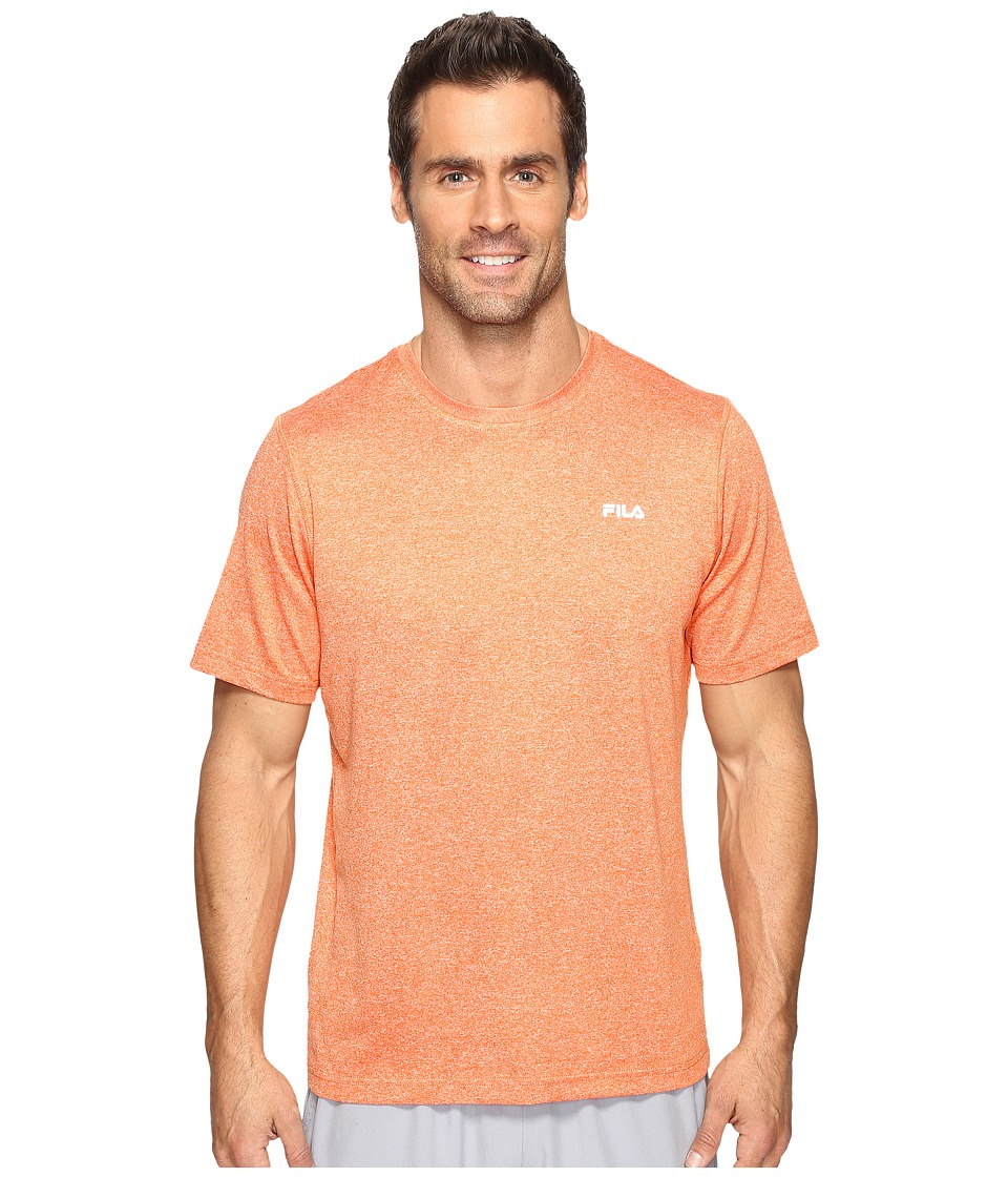 Fila Performance Heather Short Sleeve Tee (Cone Orange Heather) Men