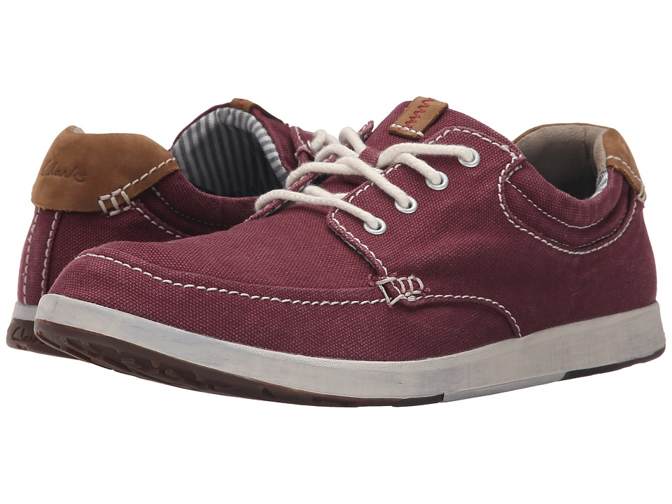Clarks - Norwin Vibe (Burgundy) Men's Shoes
