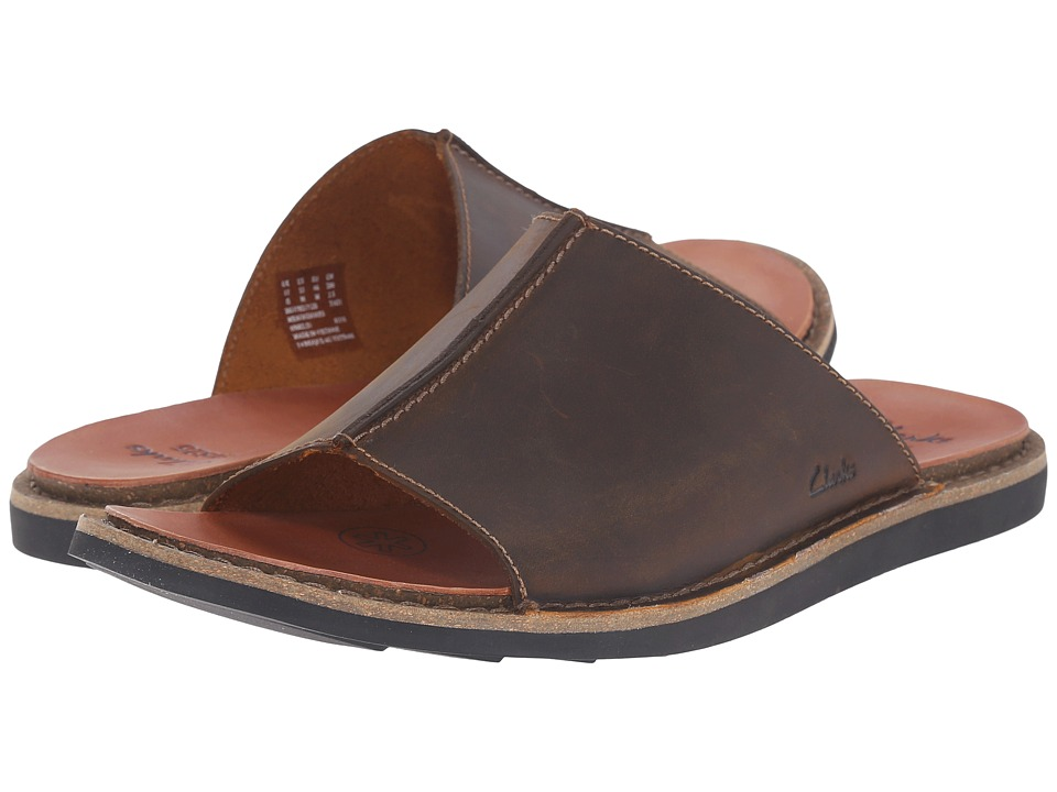 Clarks - Lynton Slide (Tan Leather) Men's Slide Shoes