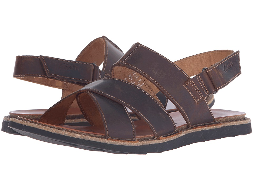 Clarks - Lynton Bay (Tan Leather) Men's Sandals