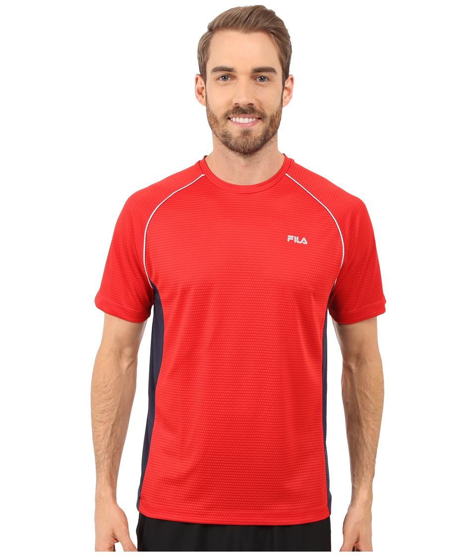 Fila - Premier Crew (Chinese Red/Peacoat/White) Men's T Shirt