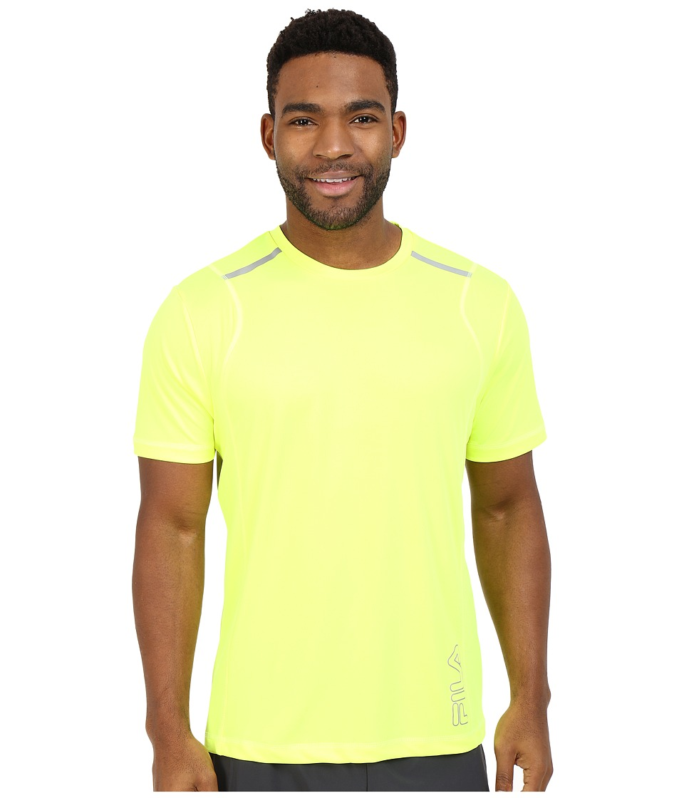 Fila - Stamina Crew (Safety Yellow) Men's T Shirt