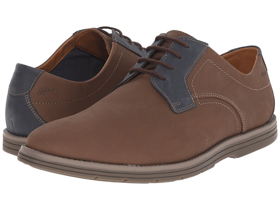 Clarks - Radwel Plain (Brown Nubuck) Men's Lace Up Wing Tip Shoes