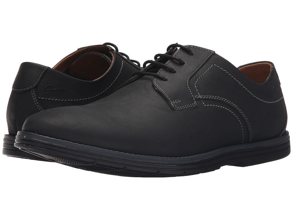 Clarks - Radwel Plain (Black Nubuck) Men's Lace Up Wing Tip Shoes