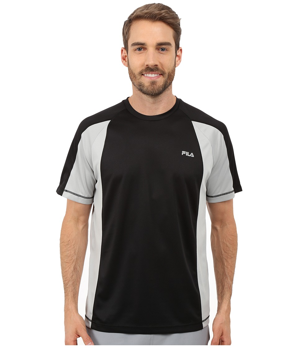 Fila - Advantage Crew (Black/High Rise) Men's T Shirt