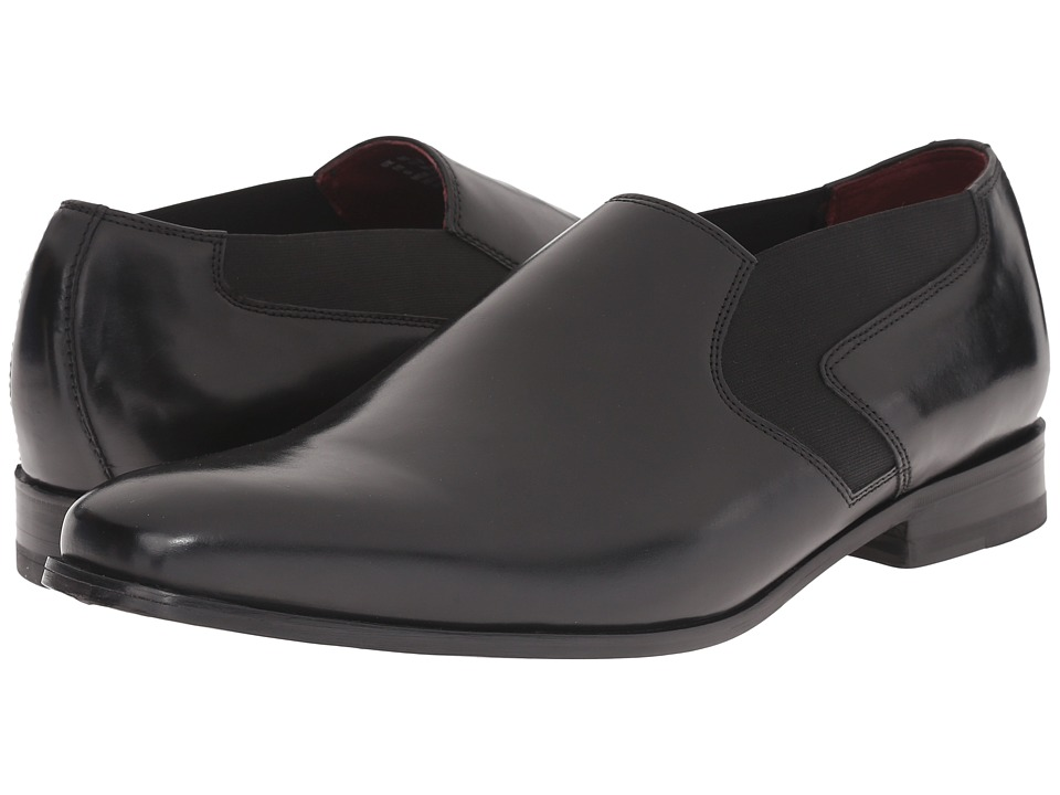 Clarks - Swixty Step (Black Leather) Men's Slip-on Dress Shoes