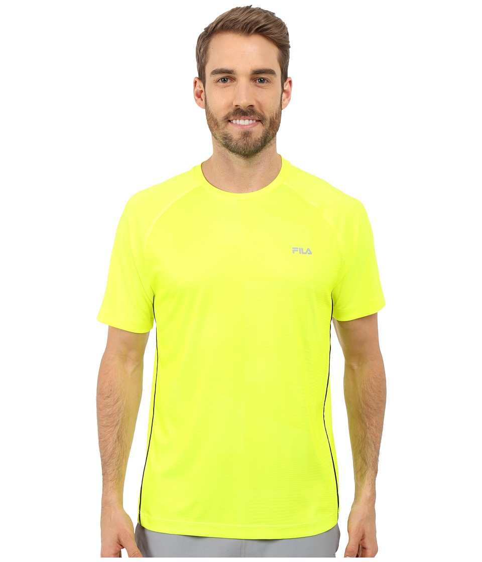 Fila - Surge Crew (Safety Yellow/Black) Men's T Shirt