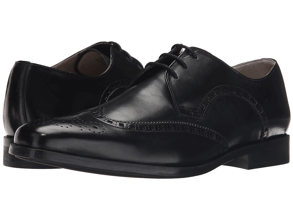 Clarks - Amieson Limit (Black Leather) Men's Lace Up Wing Tip Shoes