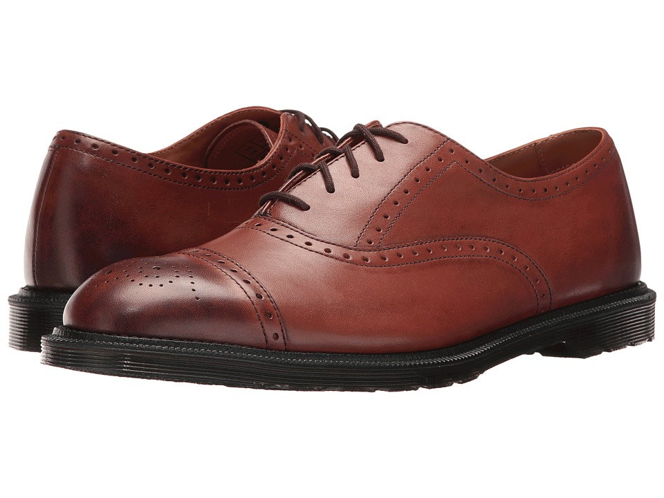 Dr. Martens - Morris Brogue Shoe (Oak Temperley) Men's Lace up casual Shoes