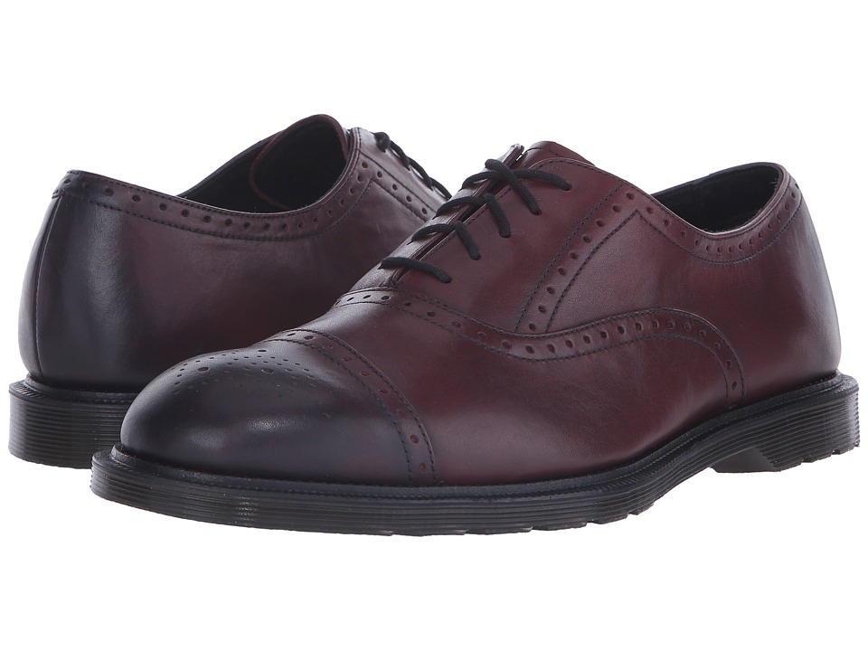 Dr. Martens - Morris Brogue Shoe (Cherry Red Temperely) Men's Lace up casual Shoes