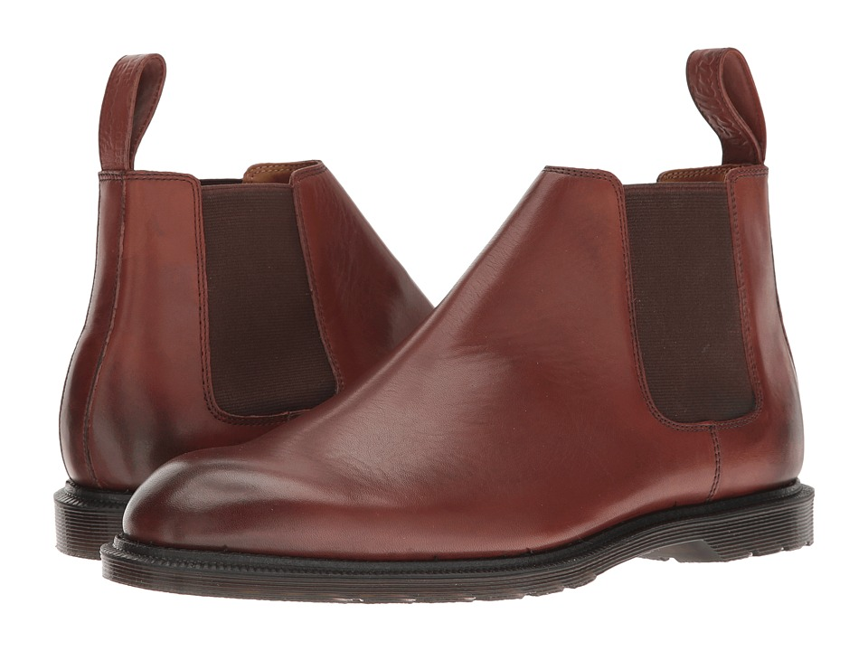 Dr. Martens - Wilde Low Chelsea Boot (Oak Temperley) Men's Pull-on Boots
