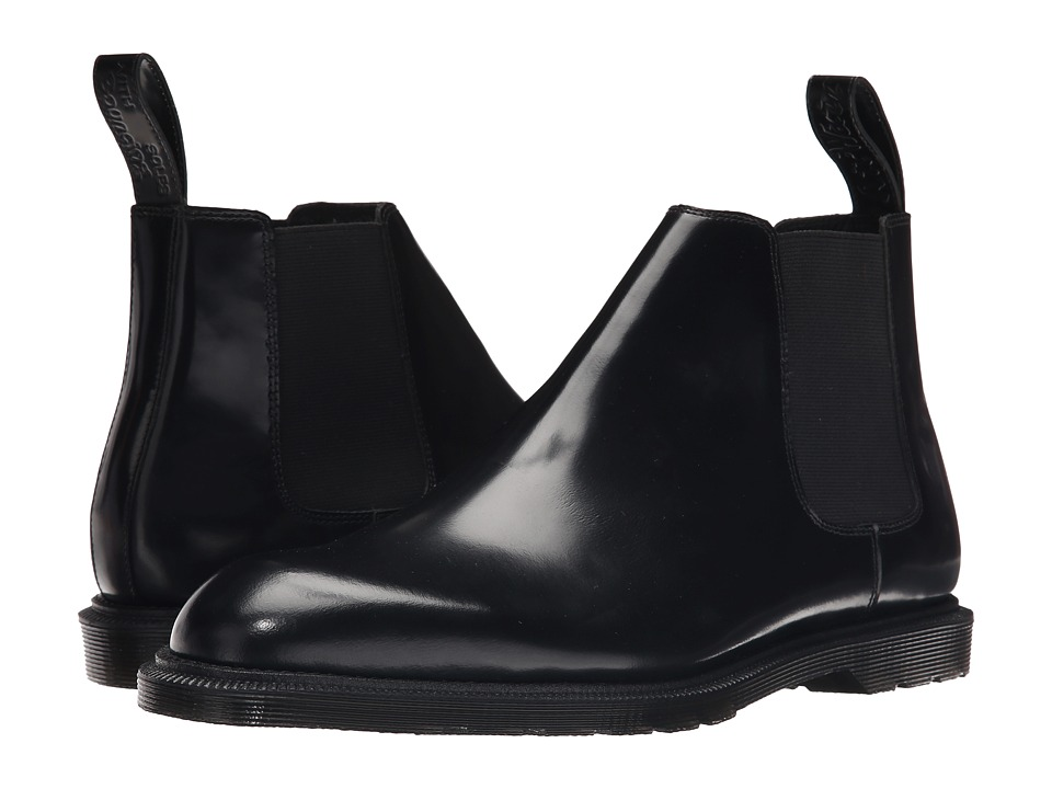 Dr. Martens - Wilde Low Chelsea Boot (Black Temperley) Men's Pull-on Boots