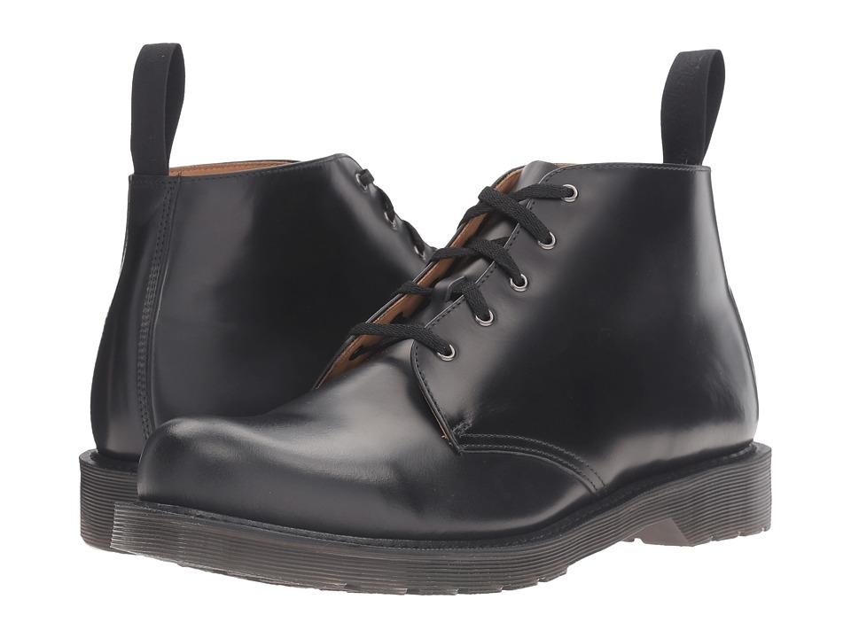 Dr. Martens - Hampton 5-Eye Boot (Black Polished Finoil) Men's Lace up casual Shoes